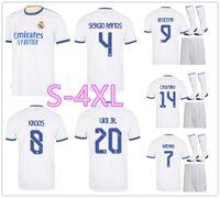 2122 레알 마드리드 저지 위험 Sergio Ramos Benzema 축구 Camiseta de Futbol 20 21 2022 Vinicius JR 성인 축구 셔츠 유니폼