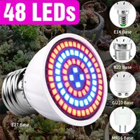 LED Plant Grow Light E27 Fitolamp E14 Full Spectrum 3W MR16 Growing Lights For Indoor Phyto Lamp GU10 Growth Bulb B22