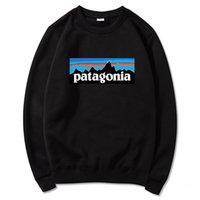 Japonês Exclusivo Patagonia Bata Montanha Impresso em torno do pescoço camisola masculina pulôver de moletom
