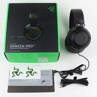 Razer Kraken Pro V2ヘッドホンアナログスポーツゲームヘッドセットPC Mac PS4 Xbox 1つのモバイルデバイス5PCS FedEx