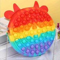 Novo Parte Fidget Stress Relief Toys Sensory Moda Maquiagem Moeda Moeda Push Foam Rainbow Macarons Jogos Divertidos