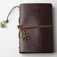 Planner Notebook Artificiale PU Strap Sostituibile Classico Diario a spirale Diario di cancelleria Diario Vintage Pirate Blocco note