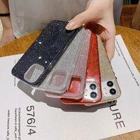 Glitter Kılıfları iPhone 12 Pro Max Mini 11 Samsung S20 Ultra S21 + A51 Cep Telefonu Kılıfı Önleyici Koruyucu Kapak