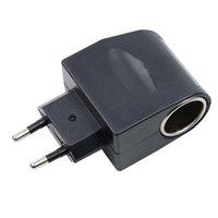 스마트 파워 플러그 EU US 플러그 자동차 담배 라이터 어댑터 고품질 변환기 220V 벽 휴대용 AC 12V