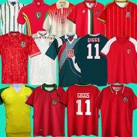 1976 1983 1990 1993 Gales 1982 Wales Retro Soccer Jersey 2015 2015 1992 1994 1995 1998 Giggs Hughes Away Saunders Rush Boden Velocidade Vintage Camisa de Futebol Clássico