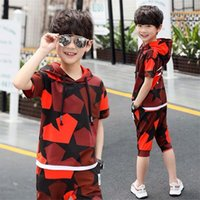 Kids Sets Boys Summer Children Short Sleeve T Shirt Pant Two Of Childrens Sport Suit 4 14 Ages Clothing 7
