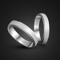 Fashion 925 Sterling Silver Couple Frosted Rings Simple Woman & man Single Ring Solid silver Wedding Engagement Ring jewelry
