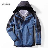 Mens 다운 파카 겨울 파카 남성 방수 및 벨벳 두꺼운 따뜻한 양털 재킷 군사 유니폼 후드