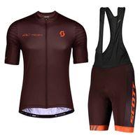 VERANO SCOTT EQUIPO Ciclismo Manga corta Jersey BIB Shorts Set Transpirable Ropa de bicicleta de secado rápido Ropa deportiva Ropa deportiva 32246