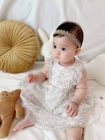 Kids Girls Dress 2021 Summer Baby Girl Sleeveless Princess Dresses Children Dot Sequins wedding Clothes Tops