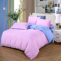 Vendite Pink + Biancheria da letto blu Set singola Full Queen King Size Biancheria da letto 2 / 34pcs / Set Set di copertura piumino fianco piatto