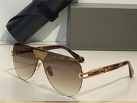 Grand Ane óculos de sol para homens e mulheres Estilo de verão Anti-ultravioleta placa retro oval forma sem moldura moda óculos aleatório caixa