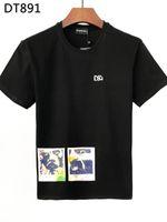 DSQ PHANTOM TURTLE 2021SS New Mens Designer T shirt Italian fashion Tshirts Summer DSQ Pattern T-shirt Male High Quality 100% Cotton Tops 60926