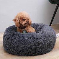 Kennels & Pens Dog Round Cat Winter Warm Sleeping Bag Long Plush Soft Pet Bed Calming Cushion House Nest 10 Colors 19Dec26