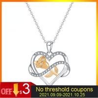 Pendant Necklaces Valentine Day Gift Love Necklace Entangled Roses Flower Endant For Women Hollow Heart Shape Jewelry