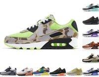 Classic 90 scarpe da corsa 90s Uomini Donne Chaussures Camo UNC USA Volt Supernova Triplo Bianco Bianco Black Mens Trainer Sneakers sportivi all'aperto 40-46