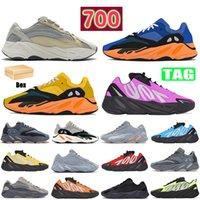2019 Wave Runner 700 zapatos para correr para hombre estático malva EE9614 sólido gris B75571 moda deportiva mujer deporte zapatillas de deporte zapatos con caja 36-46