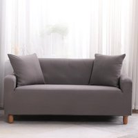 Chair Covers 45 Grey Sofa Cover Slipcover High Stretch Spandex Solid Color 1Pc Cover Lounge Covers Couch Furniture Protector