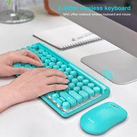 Combo 2.4G Wireless Keyboard Mouse Set 77 Keys Thin Numeric Keypad Keycaps Ergonomic Mini For Laptop Tablet Keyboards