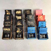 Kreative klassische hölzerne Musikbox Alle Arten Bilder Ingraved Hand Schütteln Motivierte Harry Peiser Ornamente Musik Box GWC6898