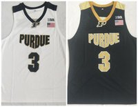 Carsen Edwards Basketbol Forması Purdue Boulmeter # 3 C.Edwards Eblack Beyaz Dikişli NCAA Koleji Basketbol Formaları Retro Sıcak
