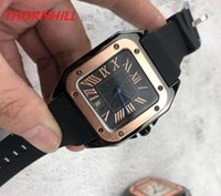 men women silicone watches quartz movement square dial designer iced out watch high quality unisex dress wristwatches lady clock montre de luxe