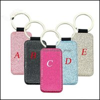 Favor Event Festive Party Home & Garden3-7 Days Sublimation Blanks Pu Leather Christmas Heat Transfer Keychain Keyring For Diy Craft Supplie
