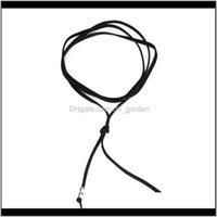 Colaristas colares de jóias de jóias preto couro elegante moda longa corda collier femme bola falsa gargantilha colar colar para mulheres