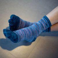 Free Size Men Women Retro Color Five Finger Toe Socks Newest Soft Cotton Blend Casual Wholesale