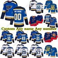 Özel St Louis Blues Hokey Formaları 91 Vladimir Tarasenko 50 Binnington 99 Wayne Gretzky 47 Torey Krug Herhangi bir sayı ve isim