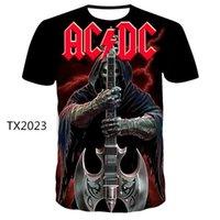 Tshirts Men AC DC Impreso 3D Marca de verano Camiseta Moda Moda Nuevo Estilo T Shirt Divertido Ocio Tshirtsoccer Jersey