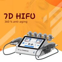 High intensity focused ultrasound 7 Cartridge 20000 Shots Portable 7D hifu anti-aging face lifting Skin Firming wrinkle removal body contouring machine