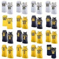 NCAA College Michigan Wolverines Basketbol Forması 24 Baird 3 Zavier Simpson 32 Luke Wilson 44 Jaron Faulds Özel Dikişli