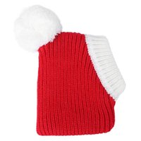 Winter Warm Hat Adorable Pet Woolen Christmas Headdress For Dog Puppy (Red, Size XS) Apparel