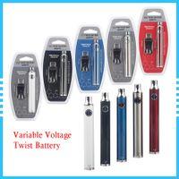 EVOD Twist Vape Pen Batterieladegerät Kit variable Spannung 650mAh 510 Gewinde elektronische Zigarette für D8-Patronen Zerstäuber