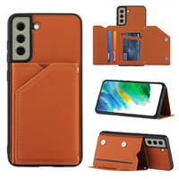 Skin Sensation Leather Back Phone Cases For Samsung Galaxy S21 FE S20 Plus Note 20 Ultra A21S A31 A51 A71 Card Holder Cover