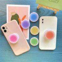 승화 공백 홀더 에폭시 그라디언트 전화 그립 에어백 아이폰 12 프로 최대 삼성 Xiaomi 유니버설 팔찌 사용자 정의 로고 6 색