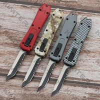 Mini Incursion Double Action out the front Automatic Tanto Knife T E 440C Steel Two-tone Blade Zinc aluminum handle EDC Tactical Micro Pocket Knives Cncostco