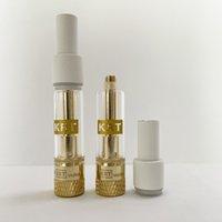 Newest Krt Vape Cartridges Packaging 0.8ml 1ml Atomizers Ceramic Empty Vapes Pens Cartridge 510 Thread Dab Pen Oil Wax E Cigarette