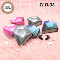 Wholesale pestañas personalizadas caja de etiquetas privadas Embalaje de pestañas Packaging Round Glitter Lashes Box con su propio logo