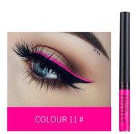2021winged Neon Eyeliner Flüssigkeit fluoreszierende leuchtende bunte Dichtungsstempel Eye Liner Pen Wasserdichte langlebige grüne Makeup Bleistift