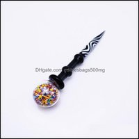 Other Smoking Aessories Household Sundries Home & Garden4.9Inch Dabber Carb Cap Wax Oil Rigs Stick Carving Tool For E Dab Nail And Quartz Na