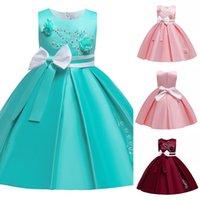 Children Tutu Bow Princess Birthday Party Prom Wedding Bridesmaid Evening Summer Dress Gown Vestidos Baby Girls Clothes 10 Years