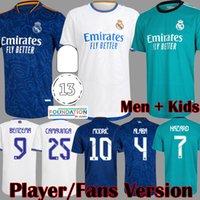 REAL MADRID jerseys 21 22 futebol futebol camisa Player Version CAMAVINGA ALABA PERIGO BENZEMA ASENSIO MODRIC VALVERDE camiseta masculino kids kit 2021 2022 uniformes