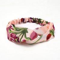 Diseñadores DIEADORES DE MUJERES Fresas Seda Seda Headwraps Hairbands Arcos Accesorios para el cabello Turbante Retro Diadema Deporte Flores Colibrí Hummingbird Orchid