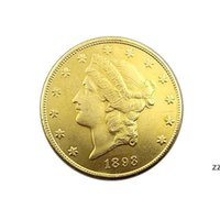 Ремесла Соединенные Штаты Америки 1893 г. Двадцать долларов памятные Золотые монеты Медная монета Коллекция монет Поставки HWF7593