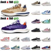 Otantik SACAIS X Vaporwaffle Blazer Rahat Ayakkabılar LDV Buharlıklı Waffle Koyu Iris Susam Mavi Void Naylon Beyaz Daybreak Platformu Kapalı Eğitmenler Sneakers 36-45