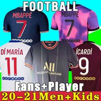 2021 202242thai Jersey Mbappe Verratti 20 21 Marquinhos Kimpembe di Maria Kean Football Jerseys Tops Homens Camisa e Crianças Conjuntos