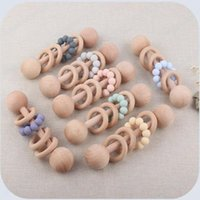 Baby Teethers Toys Wooden Ring Eco-Fridendly Material 2021 Original Desigan Infant Education Accessories Pacify Products