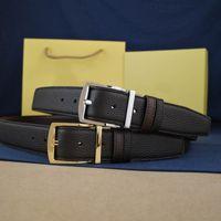 Cinturón de hebilla reversible Unisex Cinturones de moda Cinturón de agujas Cinturón de cinturón de cinturón de calidad superior con caja